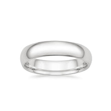 Load image into Gallery viewer, Wedding Ring for Him - White Gold Comfort Fit Wedding Ring