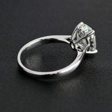 Load image into Gallery viewer, Moissanite 1.25 carat Oval Solitaire White Gold Ring