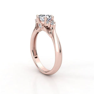 Moissanite Multi-Stone Rose Gold Ring