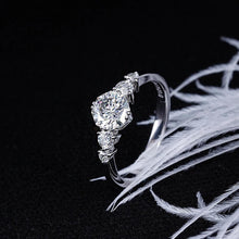 Load image into Gallery viewer, Moissanite Multiple Stone White Gold Ring