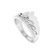 Load image into Gallery viewer, diamond art deco white gold ring
