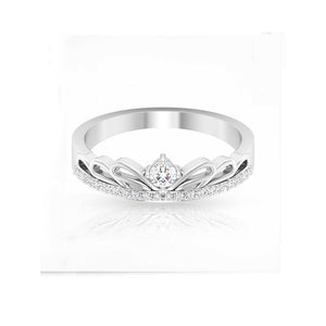 diamond art deco white gold ring