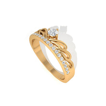 Load image into Gallery viewer, diamond art deco yellow gold ring