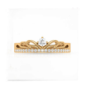 diamond art deco yellow gold ring