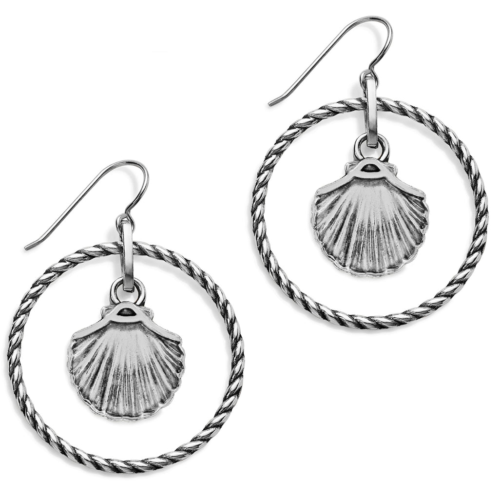 Sea Shore Shell French Wire Earrings - Jenna Jane's Jewelry