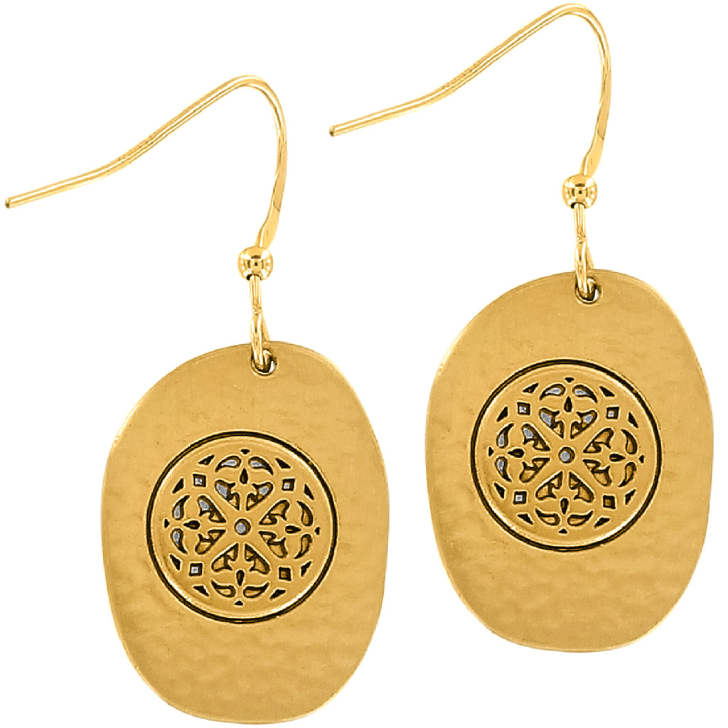 Ferrara Artisan Two Tone French Wire Earrings