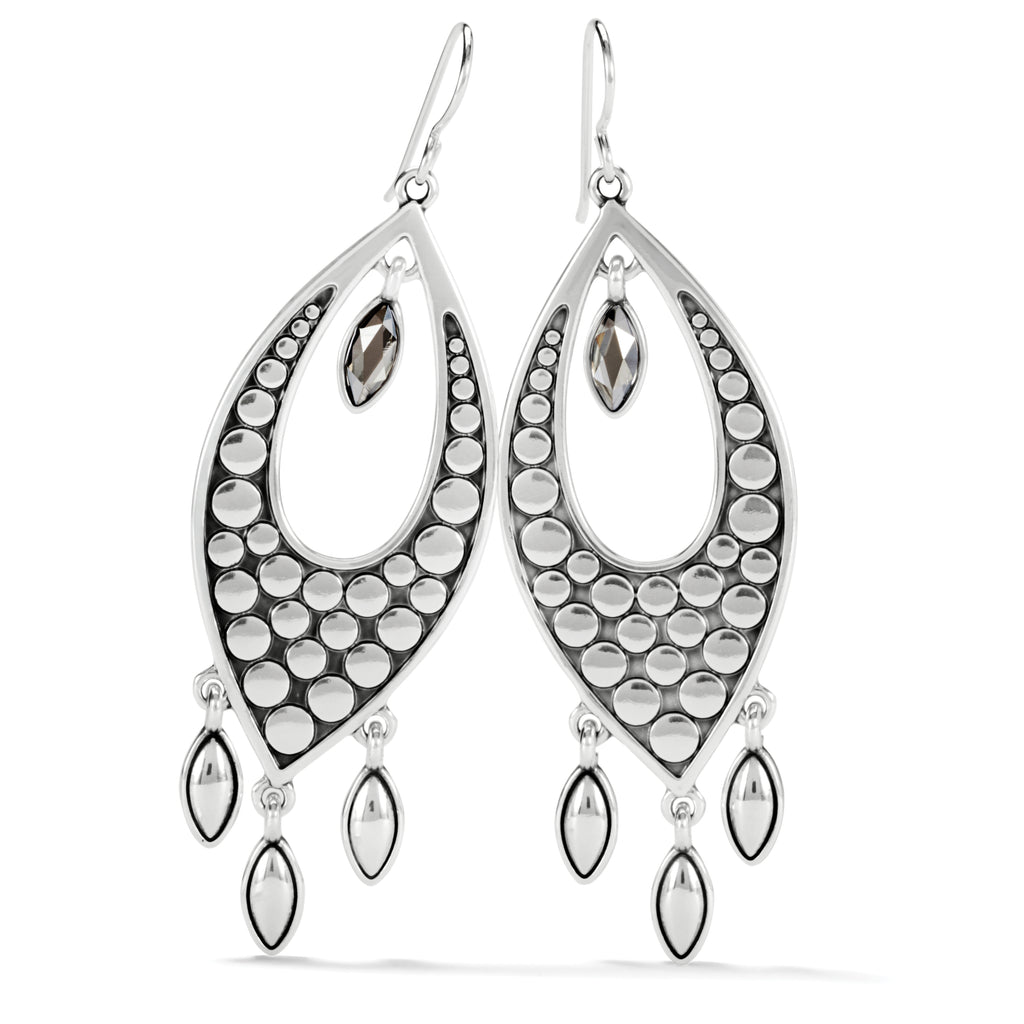 Pebble Disc Marquise Statement Earring