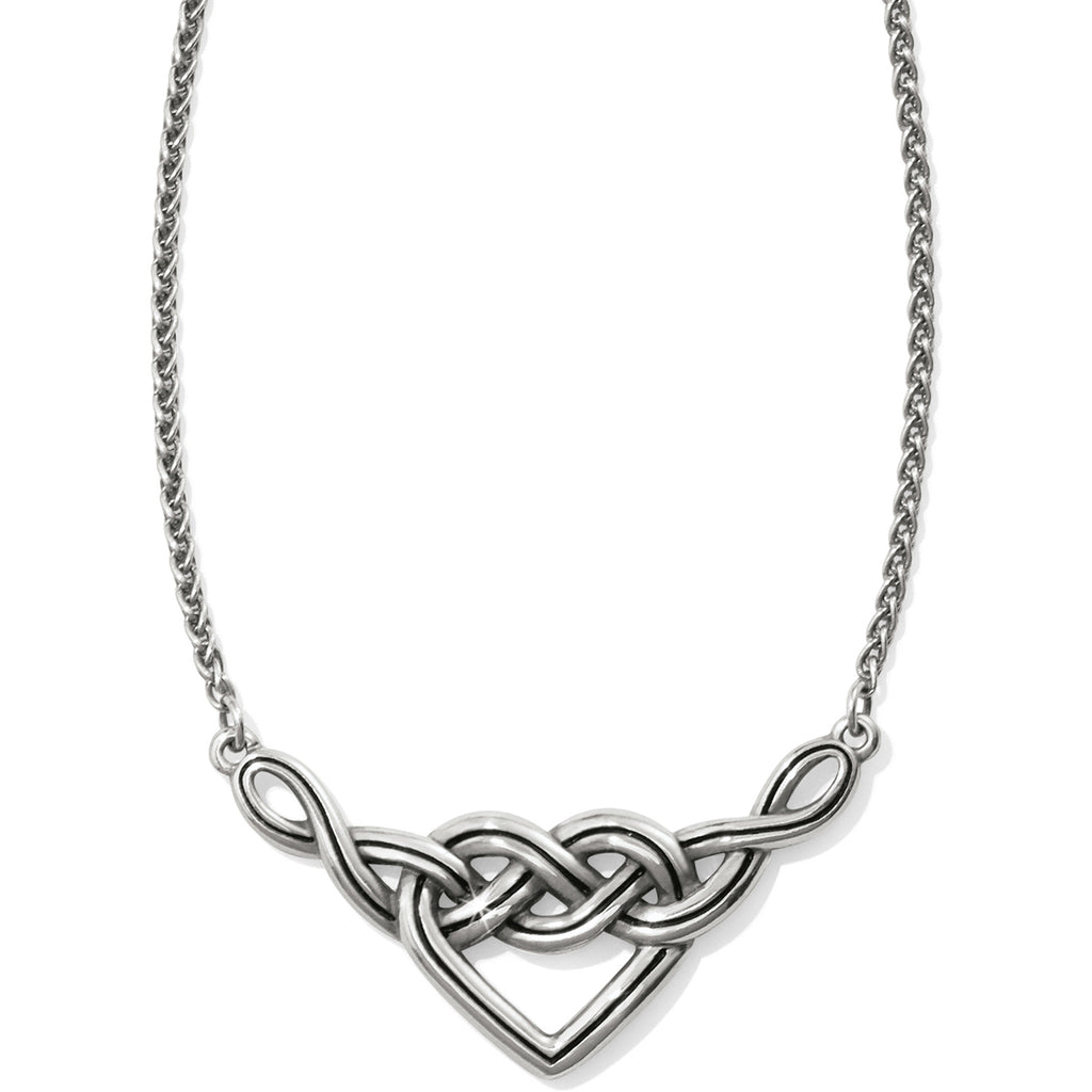 Interlok V Heart Necklace