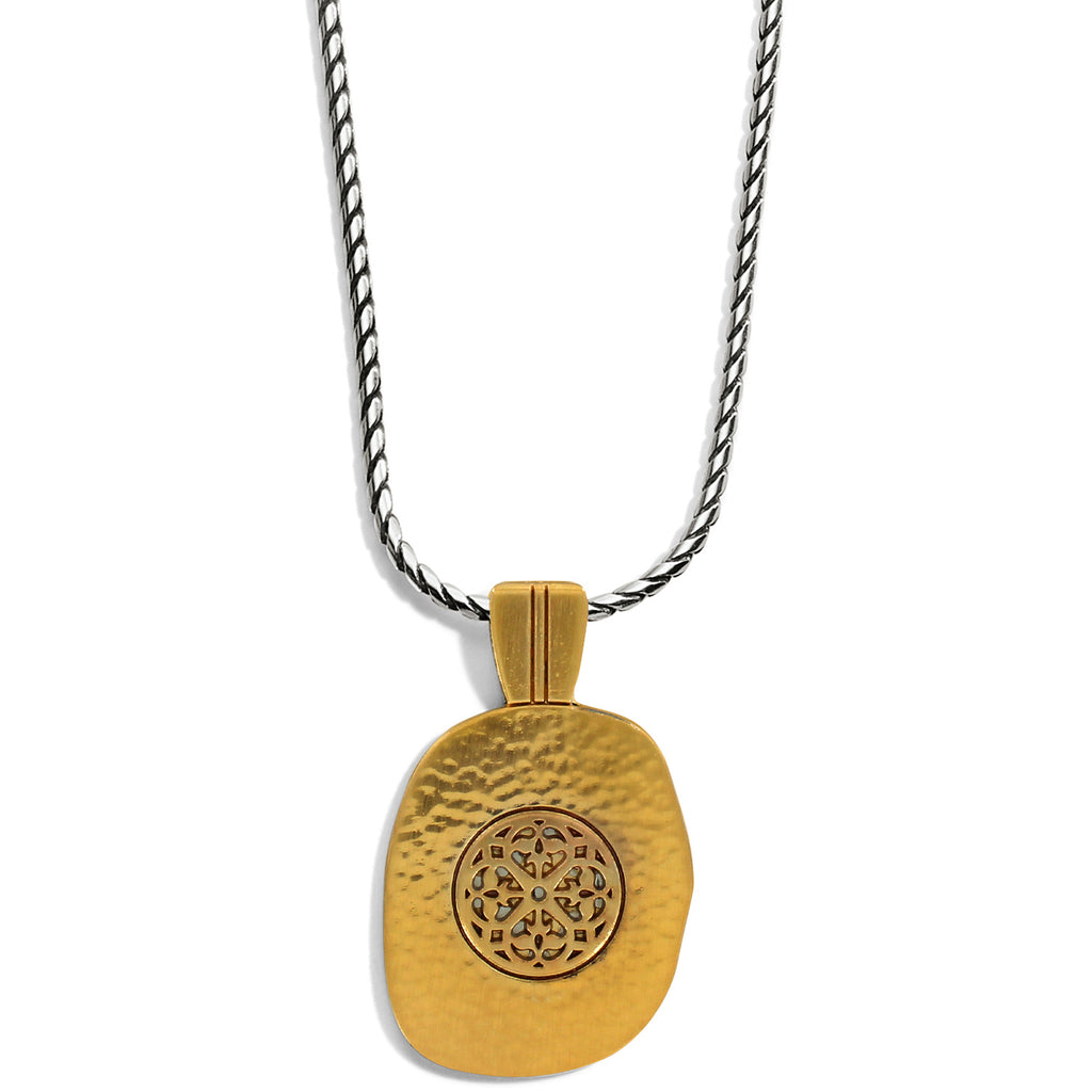 Ferrara Artisan Two Tone Pendant Necklace