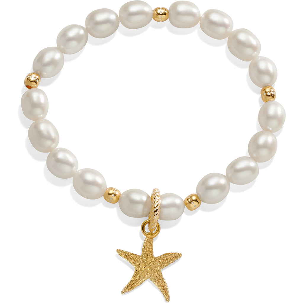 Sea Shore Pearl Starfish Stretch Bracelet - Jenna Jane's Jewelry