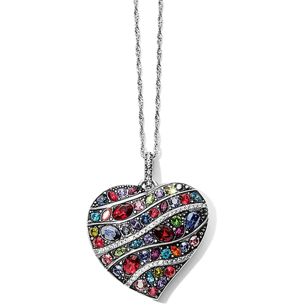 Trust Your Journey Wave Convertible Reversible Heart Necklace Multi - Jenna Jane's Jewelry