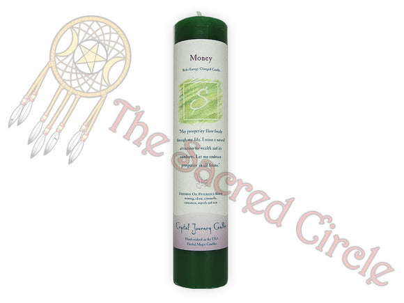Reiki Pillar Candle - Money