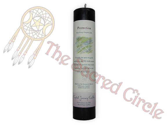 Reiki Pillar Candle - Protection
