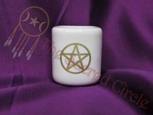 Mini Ceramic Candle Holder - White