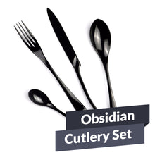 Load image into Gallery viewer, Obsidian Cutlery Set