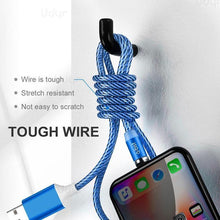 Load image into Gallery viewer, The Electret - Glowing LED Magnetic 3 in 1 USB Charging Cable
