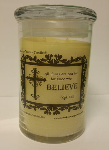 Believe - Jeremiah 29:11 - 31oz Canister - Vanilla Sugar Cookie