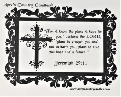 Believe - Jeremiah 29:11 - Special Label Only - Amy's Country Candles