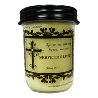 Believe - Joshua 24:15 - Special Label Only - Amy's Country Candles
