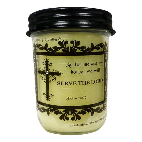 Believe -Joshua 24:15 - 8oz Jelly - Amy's Vanilla Sugar Cookie® - Amy's Country Candles