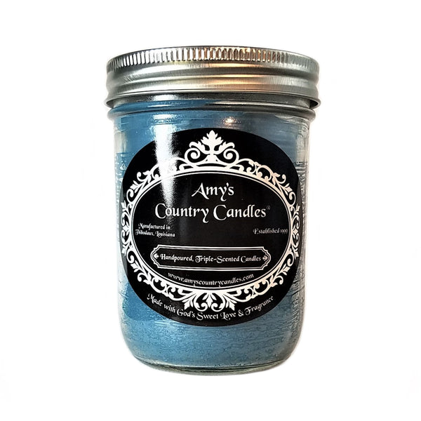 Blueberry Cobbler Mason - Amy's Country Candles