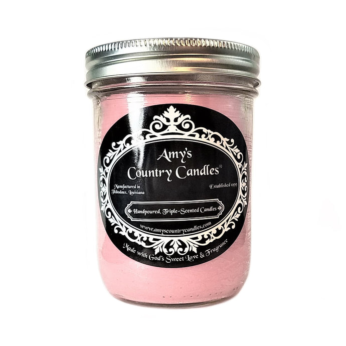 Cashmere (formerly Glamour Chic™) 16oz Mason - Amy's Country Candles