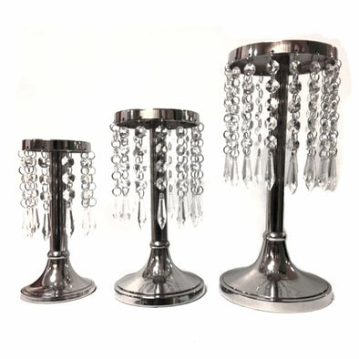 Crystal Beaded Candle Holder - Rental - Amy's Country Candles