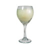 Balloon White Wine Glass Candle