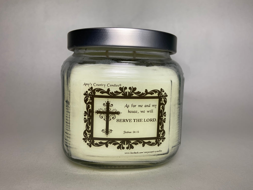 Believe - Joshua 24:15 - 20oz Medium Candle - Amy's Vanilla Sugar Cookie®