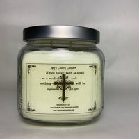 Believe - Matthew 17:20 - 20oz Medium Candle - Amy's Vanilla Sugar Cookie®