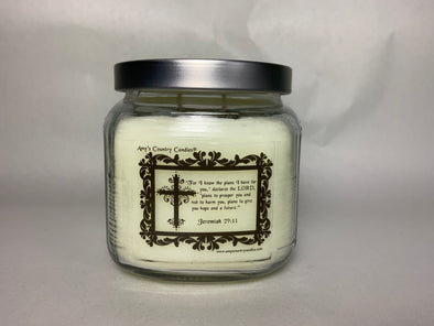 Believe - Jeremiah 29:11 - 20oz Medium Candle - Amy's Vanilla Sugar Cookie®