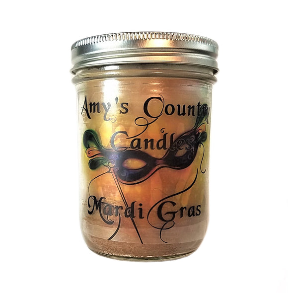 King Cake - 16oz Mason - Amy's Country Candles