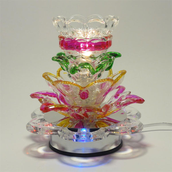 Electric Oil Warmer - Colorful Touch Lamp - Amy's Country Candles