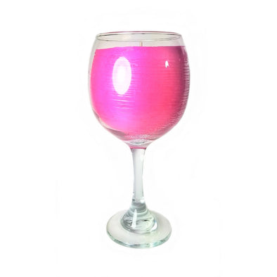 Balloon White Wine Glass Candle - Lipstick