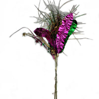 Mardi Gras Metallic Stems