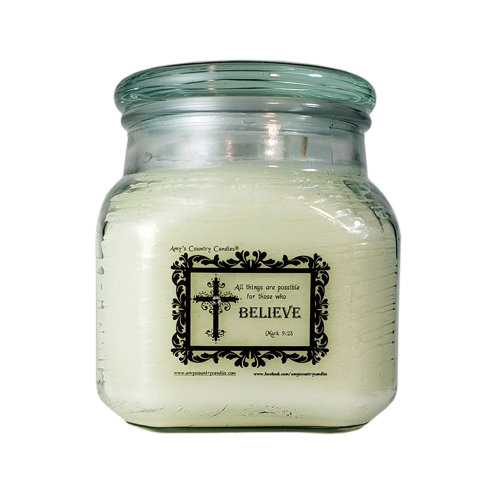 Believe - Mark 9:23 - 36oz Canister - Amy's Vanilla Sugar Cookie®