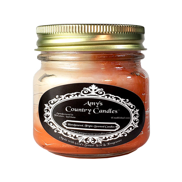 Pumpkin Spice Swirl 8oz Jelly Candle
