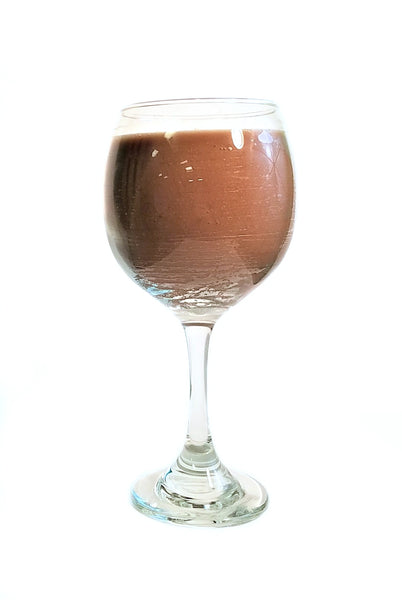Balloon White Wine Glass with Chocolate Brownie - Amy's Country Candles