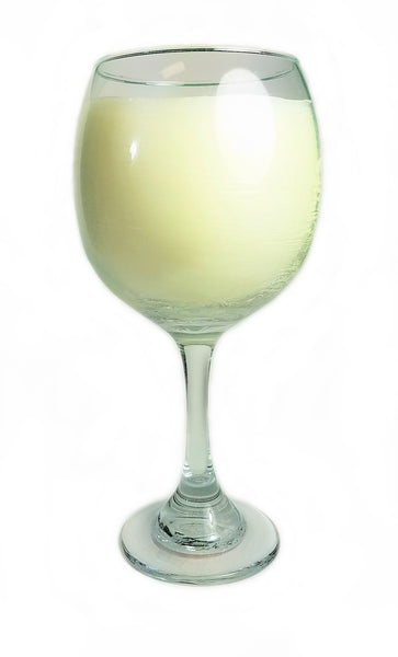 Balloon White Wine Glass filled with Gardenia! - Amy's Country Candles