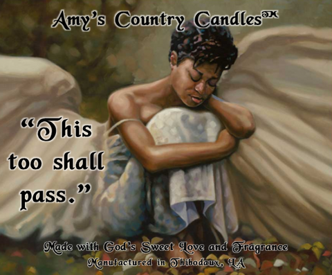"Angel ""This Too Shall Pass"" 1 - Special Label Only - Amy's Country Candles"