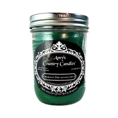 Christmas Tree 16oz Mason - Amy's Country Candles