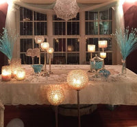 Crystal Diamond Ball Candle Holder - Rental - Amy's Country Candles