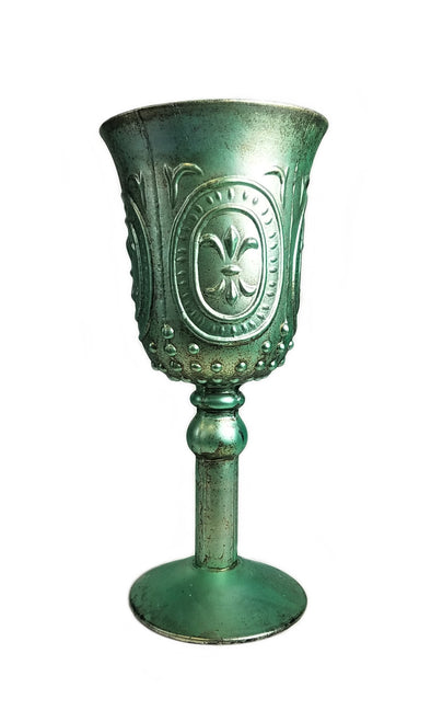Green Patina Chalice filled with our famous Amy's Vanilla Sugar Cookie® - Amy's Country Candles