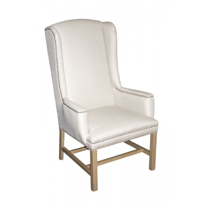 Amy's Romantic Tall Linen Chair - Amy's Country Candles