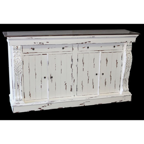 Amy's Romantic Distressed White Buffet - Amy's Country Candles