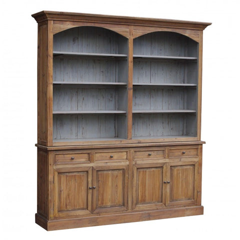 Amy's Romantic Double Arch Pine Bookcase - Amy's Country Candles