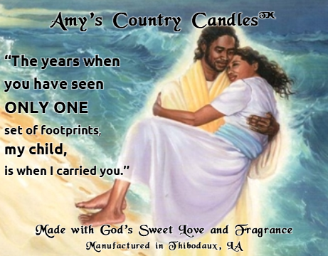 One Set of Footprints 1 - Special Label - Amy's Country Candles