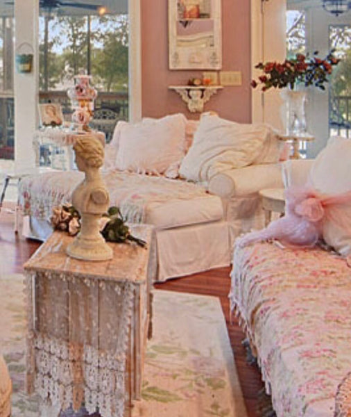 Amy's Shabby Chic Chaise - Choose Your Colors - Amy's Country Candles