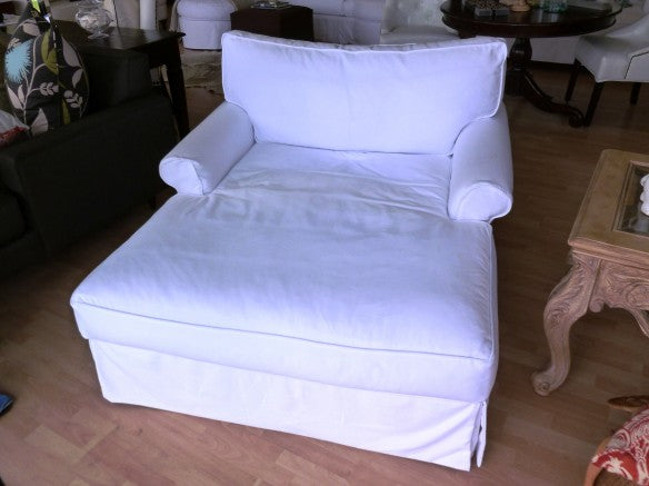Amy's Shabby Chic Chaise Slip Cover - Amy's Country Candles