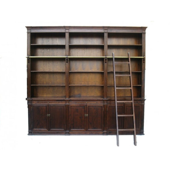 Amy's Romantic Beautiful Large Bookcase with Ladder - Solid Wood - Amy's Country Candles